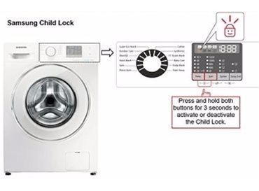 Samsung Washing Machines - Child Lock